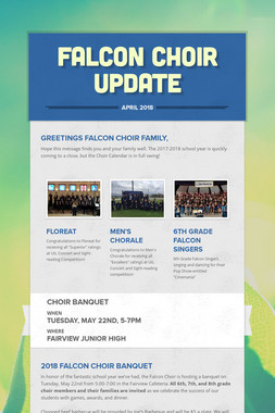 Falcon Choir Update