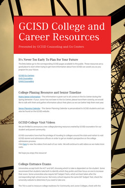 GCISD College and Career Resources