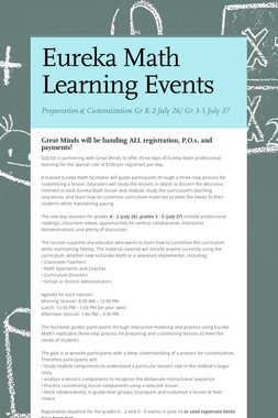 Eureka Math Learning Events