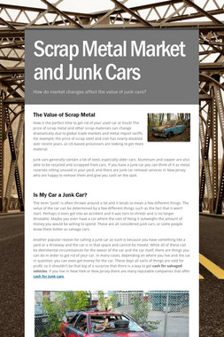 Scrap Metal Market and Junk Cars