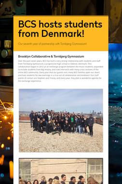 BCS hosts students from Denmark!