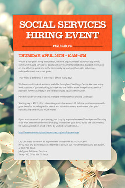 Social Services Hiring Event