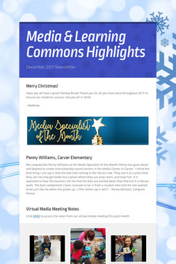 Media & Learning Commons Highlights
