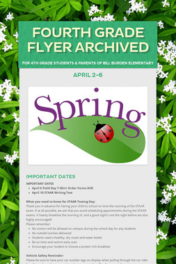 Fourth Grade Flyer Archived