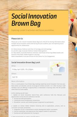 Social Innovation Brown Bag