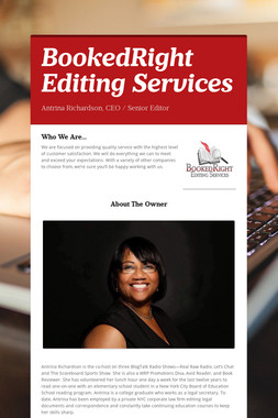 BookedRight Editing Services