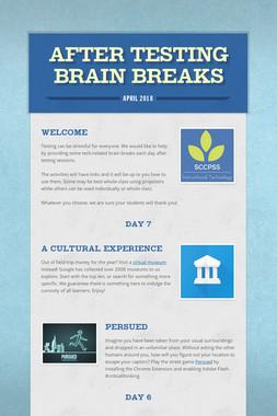After Testing Brain Breaks