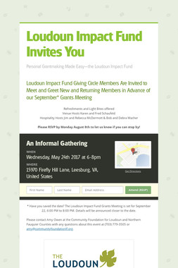 Loudoun Impact Fund Invites You