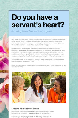 Do you have a servant's heart?