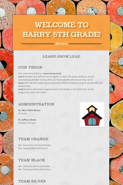 Welcome to Barry 5th Grade!