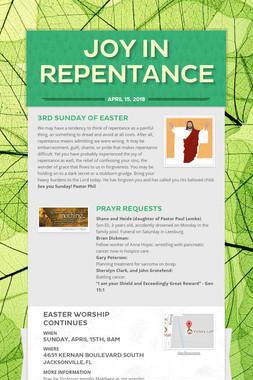 Joy in Repentance