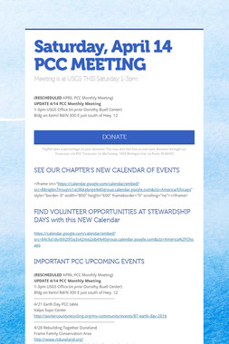 Saturday, April 14 PCC MEETING