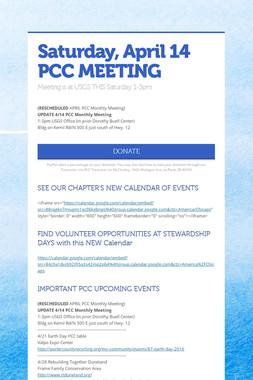 Saturday, April 14 PCC MEETING