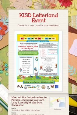KISD Letterland Event