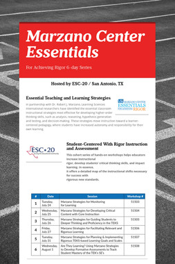 Marzano Center Essentials