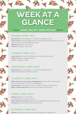 Week at a Glance