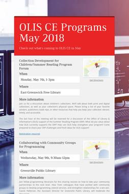 OLIS CE Programs May 2018