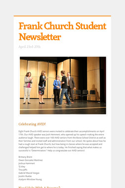 Frank Church Student Newsletter