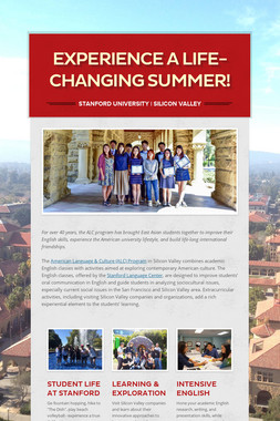 Experience a Life-Changing Summer!
