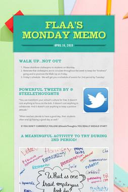 Flaa's Monday Memo