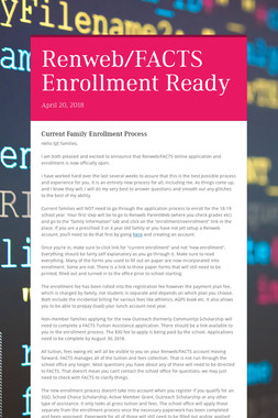 Renweb/FACTS Enrollment Ready