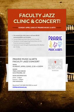 Faculty Jazz Clinic & Concert!