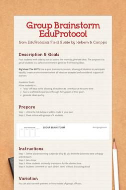 Group Brainstorm EduProtocol