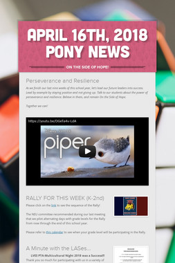April 16th, 2018 Pony News