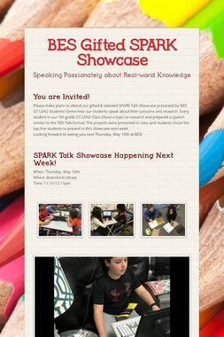 BES Gifted SPARK  Showcase
