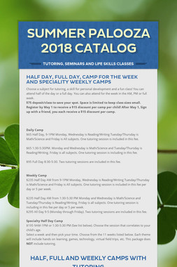 Summer Palooza 2018 Catalog