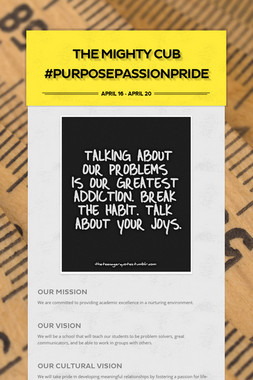 The Mighty Cub #PurposePassionPride