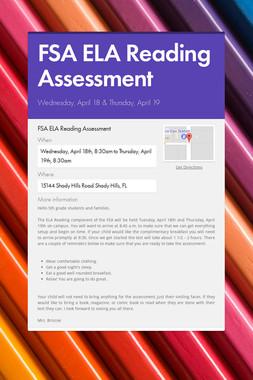 FSA ELA Reading Assessment
