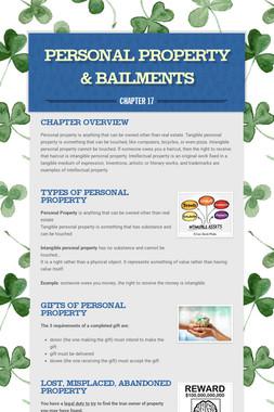 Personal Property & Bailments