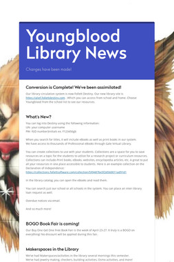 Youngblood Library News