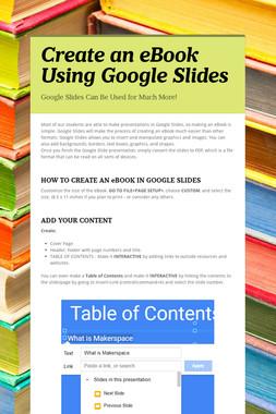 Create an eBook Using Google Slides