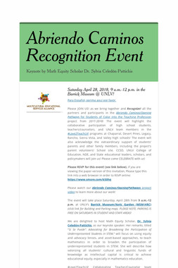 Abriendo Caminos Recognition Event