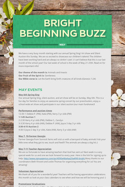 Bright Beginning Buzz