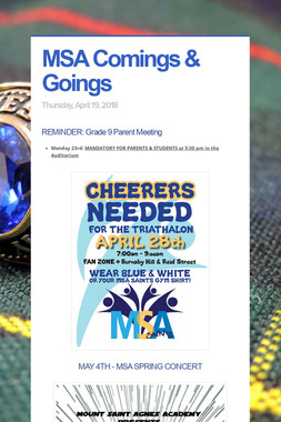 MSA Comings & Goings