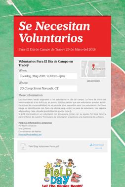 Se Necesitan Voluntarios