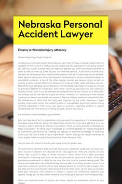 Nebraska Personal Accident Lawyer