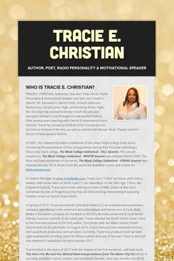 Tracie E. Christian