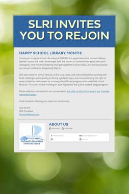 SLRI Invites You to Rejoin