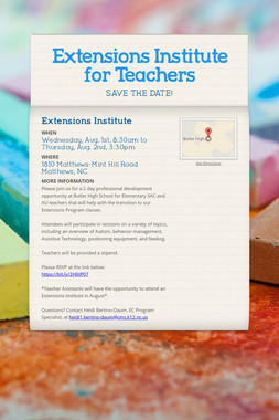 Extensions Institute for Teachers