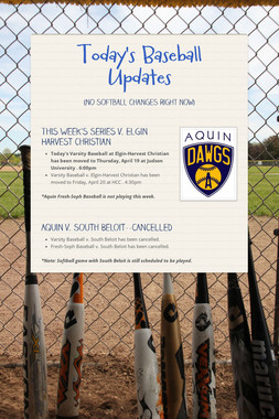 Today's Baseball Updates