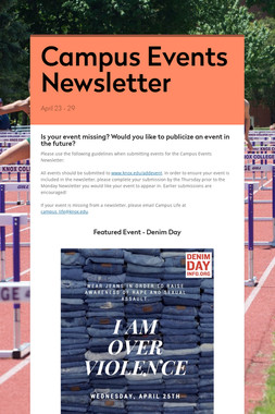 Campus Events Newsletter