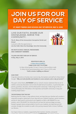 Join us for our Day of Service