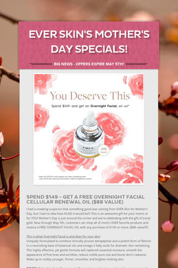 Ever Skin's Mother's Day Specials!