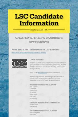 LSC Candidate Information