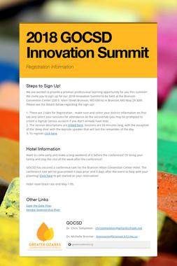 2018 GOCSD Innovation Summit