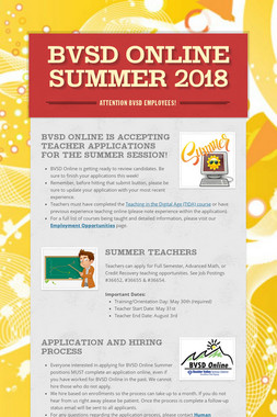 BVSD Online Summer 2018